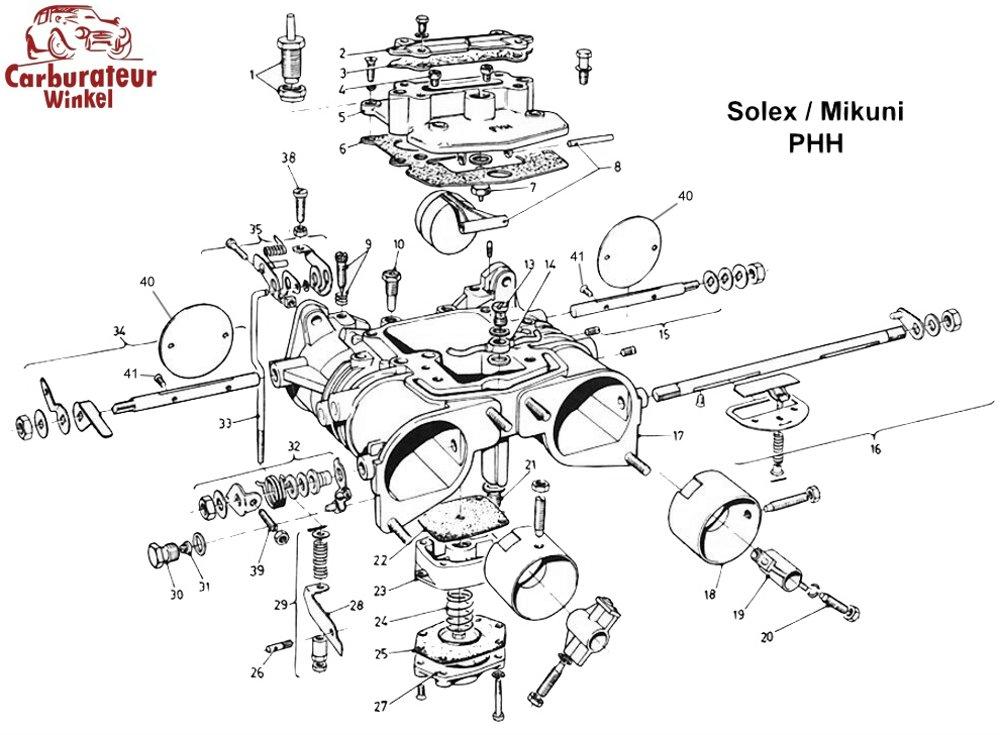 25  acceleratiepomp membraan voor solex phhe carburateurs