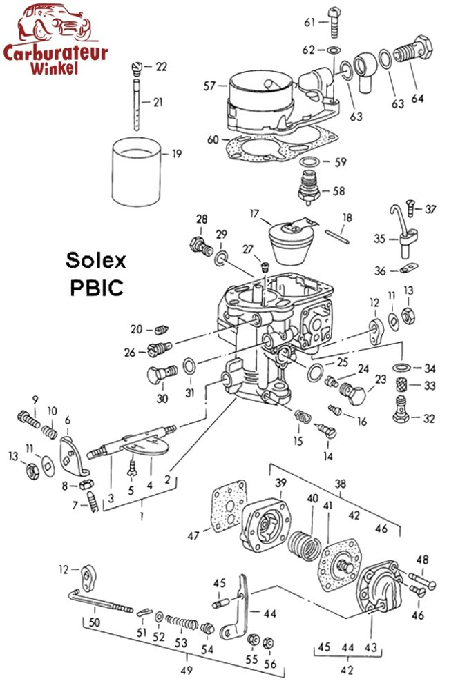 solex pbic carburateur onderdelen